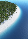 Tropical island and beach Royalty Free Stock Photography