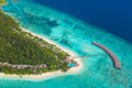 Tropical island at Maldives Royalty Free Stock Photo