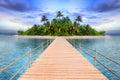 Tropical island of Maldives Royalty Free Stock Photo