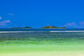 Tropical islands at seychelles nature background Royalty Free Stock Photography