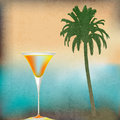 Tropical isle cocktails background illustration for an exotic drinks menu Royalty Free Stock Photo