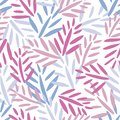 Vector seamless pattern with Tropical jungle trendy seamless pattern with exotic palm leaves, leaf branches. Vector