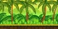 Tropical jungles Landscape For UI Game