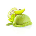 Tropical kiwi icecream dessert Stock Photo