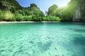 Tropical lagoon beach in thailand Royalty Free Stock Photos