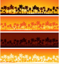 Tropical landscape background Stock Images