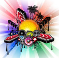 Tropical Latin Musical Event Background Royalty Free Stock Photography