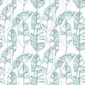 Tropical leaves, jungle pattern. Seamless, detailed, botanical pattern. Vector background.