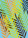Tropical leaves- seamless pattern Royalty Free Stock Photos