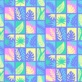 Tropical leaves summer seamless pattern