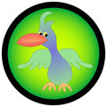 Tropical looking cartoon bird. Royalty Free Stock Images