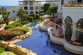 Tropical luxury resort hotel, Sharm el Sheikh, Egypt. Royalty Free Stock Photo