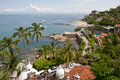 Tropical Mexican coastline Royalty Free Stock Photo