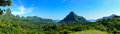 Tropical Moorea panorama Royalty Free Stock Photo