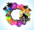 Tropical Music Disco Event Background for Flyers Royalty Free Stock Images