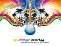 Tropical Musical Event Background Royalty Free Stock Photo