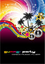 Tropical Musical Event Background Stock Photos