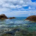 Tropical ocean coast. Thailand, Phuket, Karon. Stock Photos