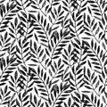 Tropical palm leaves, seamless foliage pattern
