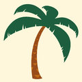 Tropical palm tree illustration silhouette of with crown of green fronds symbolic of a vacation and summer travel Stock Photo