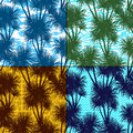 Tropical Palms Silhouettes Seamless