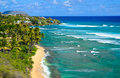 Tropical paradise, heavenly coast, Oahu Hawaii Stock Image