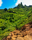 Tropical paradise view, Kalalau trail, Kauai Royalty Free Stock Photo