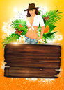 Tropical party or holiday background Stock Photo