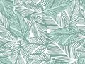 Tropical pattern, palm leaves seamless vector floral background. Royalty Free Stock Photo