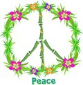 Tropical Peace Sign Stock Image