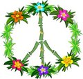 Tropical Peace Sign Royalty Free Stock Photo