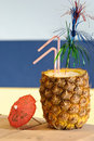 Tropical Pineapple Drink Royalty Free Stock Image