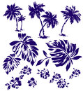 Tropical plant i designed a this painting continues repeatedly it is a vector work Royalty Free Stock Photos