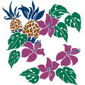 Tropical plant i designed a this painting continues repeatedly it is a vector work Royalty Free Stock Image