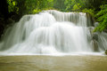 Tropical Rain forest Waterfall Stock Photos