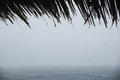 Tropical rainfall over the indian ocean in rainy season Royalty Free Stock Images