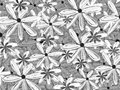 Black and White Hawaiian Shirt Pattern Floral Pattern Backdrop