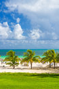 Tropical resort at the beach of coco key in cuba cayo Stock Image