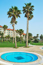 Tropical resort hotels with mini pool Royalty Free Stock Photo