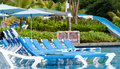 Tropical resort pool. Royalty Free Stock Photos