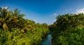 Tropical river panorama view at Maldives Royalty Free Stock Photo