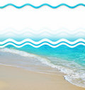 Tropical Sand Beach Design Elements Stock Photos