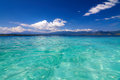 Tropical sea and blue sky with white clouds gili meno lombok indonesia Stock Photography