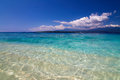 Tropical sea and blue sky with white clouds gili meno lombok indonesia Royalty Free Stock Photos
