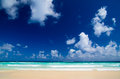Tropical sea under blue sky Stock Photo