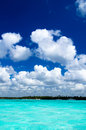 Tropical sea under blue sky Royalty Free Stock Image