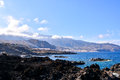 Tropical sea village at the spanish canary islands Royalty Free Stock Photography