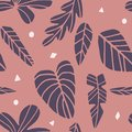 Tropical seamless leaves pattern