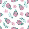 Tropical Seamless Pattern colorful vector TROPICAL FRUIT