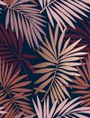 Tropical seamless pattern with leaves.